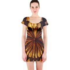 Light Star Lighting Lamp Short Sleeve Bodycon Dress