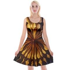 Light Star Lighting Lamp Reversible Velvet Sleeveless Dress