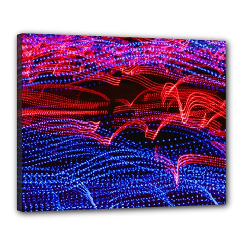 Lights Abstract Curves Long Exposure Canvas 20  X 16
