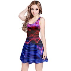 Lights Abstract Curves Long Exposure Reversible Sleeveless Dress