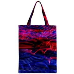 Lights Abstract Curves Long Exposure Zipper Classic Tote Bag