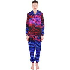 Lights Abstract Curves Long Exposure Hooded Jumpsuit (ladies)