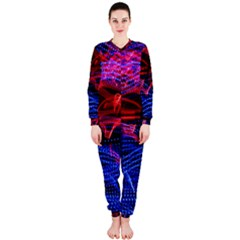 Lights Abstract Curves Long Exposure Onepiece Jumpsuit (ladies)