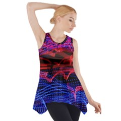 Lights Abstract Curves Long Exposure Side Drop Tank Tunic