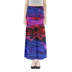 Lights Abstract Curves Long Exposure Maxi Skirts