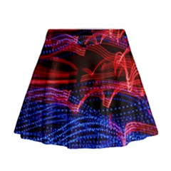Lights Abstract Curves Long Exposure Mini Flare Skirt