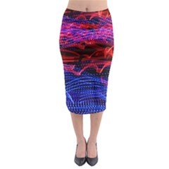 Lights Abstract Curves Long Exposure Midi Pencil Skirt