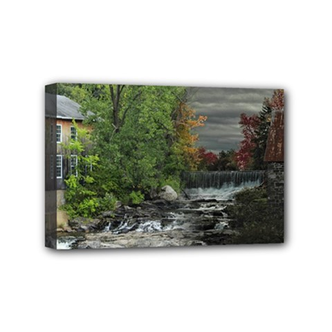 Landscape Summer Fall Colors Mill Mini Canvas 6  X 4