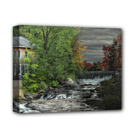 Landscape Summer Fall Colors Mill Deluxe Canvas 14  X 11