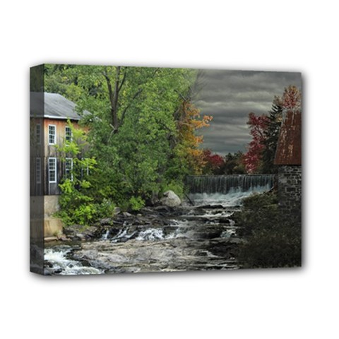Landscape Summer Fall Colors Mill Deluxe Canvas 16  X 12