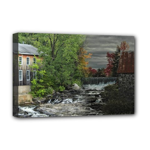 Landscape Summer Fall Colors Mill Deluxe Canvas 18  X 12