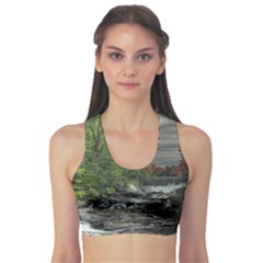 Landscape Summer Fall Colors Mill Sports Bra