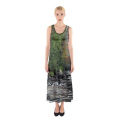 Landscape Summer Fall Colors Mill Sleeveless Maxi Dress