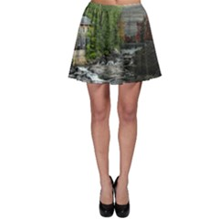 Landscape Summer Fall Colors Mill Skater Skirt