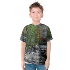 Landscape Summer Fall Colors Mill Kids  Cotton Tee