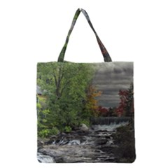 Landscape Summer Fall Colors Mill Grocery Tote Bag
