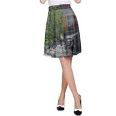 Landscape Summer Fall Colors Mill A Line Skirt