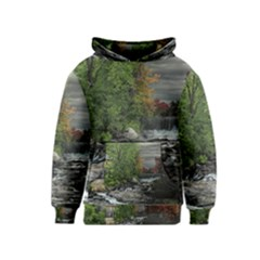 Landscape Summer Fall Colors Mill Kids  Pullover Hoodie