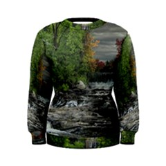 Landscape Summer Fall Colors Mill Women s Sweatshirt