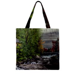 Landscape Summer Fall Colors Mill Zipper Grocery Tote Bag