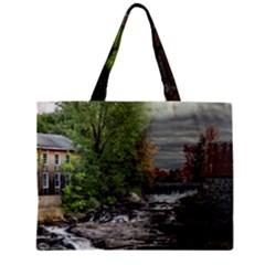 Landscape Summer Fall Colors Mill Zipper Mini Tote Bag