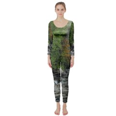 Landscape Summer Fall Colors Mill Long Sleeve Catsuit