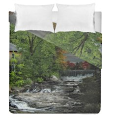 Landscape Summer Fall Colors Mill Duvet Cover Double Side (queen Size)