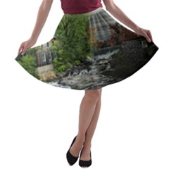 Landscape Summer Fall Colors Mill A Line Skater Skirt