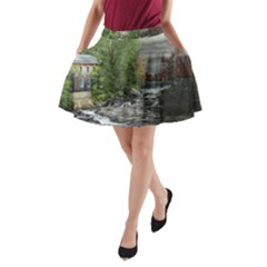 Landscape Summer Fall Colors Mill A Line Pocket Skirt