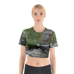 Landscape Summer Fall Colors Mill Cotton Crop Top