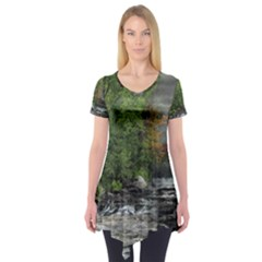 Landscape Summer Fall Colors Mill Short Sleeve Tunic