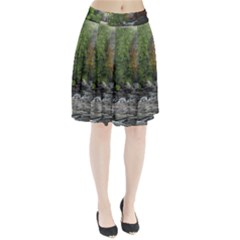 Landscape Summer Fall Colors Mill Pleated Skirt