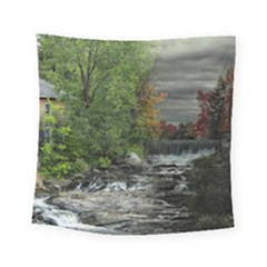Landscape Summer Fall Colors Mill Square Tapestry (small)
