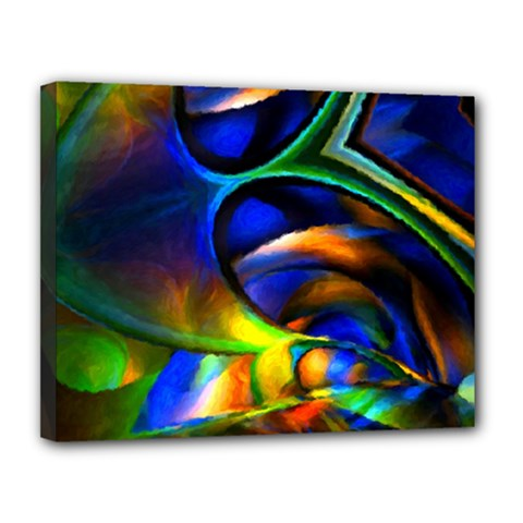 Light Texture Abstract Background Canvas 14  X 11