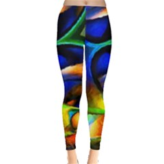 Light Texture Abstract Background Leggings