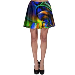 Light Texture Abstract Background Skater Skirt