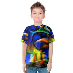 Light Texture Abstract Background Kids  Cotton Tee