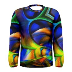 Light Texture Abstract Background Men s Long Sleeve Tee