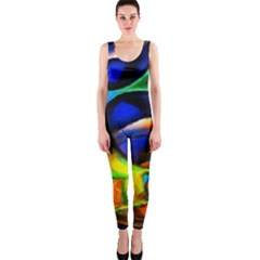 Light Texture Abstract Background Onepiece Catsuit
