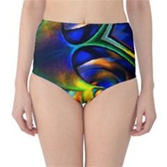 Light Texture Abstract Background High Waist Bikini Bottoms