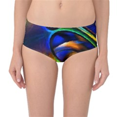 Light Texture Abstract Background Mid Waist Bikini Bottoms