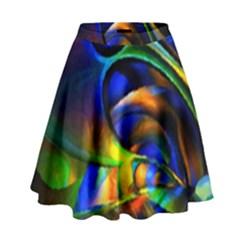 Light Texture Abstract Background High Waist Skirt