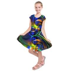 Light Texture Abstract Background Kids  Short Sleeve Dress