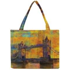 London Tower Abstract Bridge Mini Tote Bag
