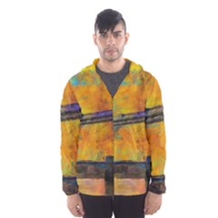 London Tower Abstract Bridge Hooded Wind Breaker (men)