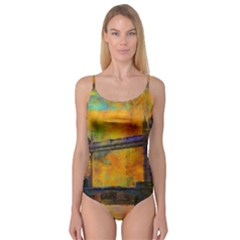 London Tower Abstract Bridge Camisole Leotard