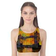 London Tower Abstract Bridge Tank Bikini Top