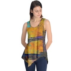 London Tower Abstract Bridge Sleeveless Tunic