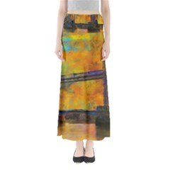 London Tower Abstract Bridge Maxi Skirts