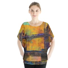 London Tower Abstract Bridge Blouse